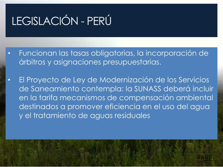 LEGISLACIÓN - PERÚ