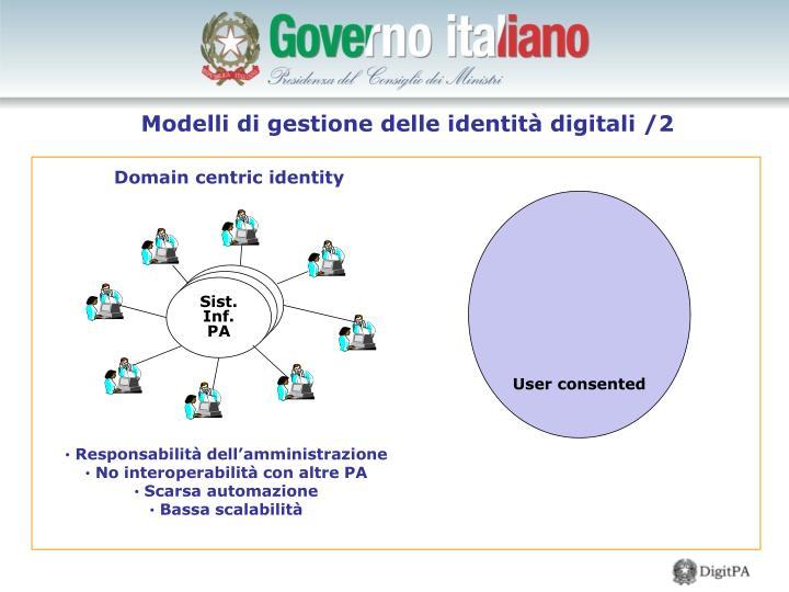 Modelli di gestione delle identità digitali /2