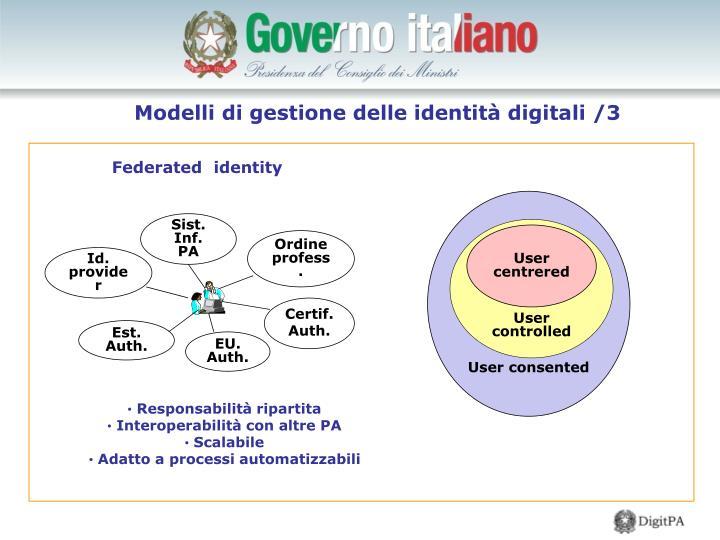 Modelli di gestione delle identità digitali /3