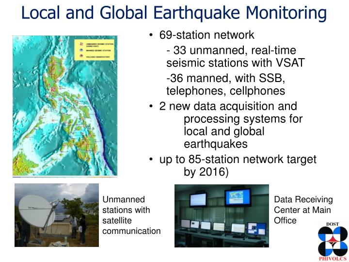 Local and Global Earthquake Monitoring