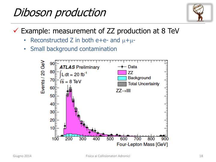 Diboson production