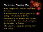 the crisis number one
