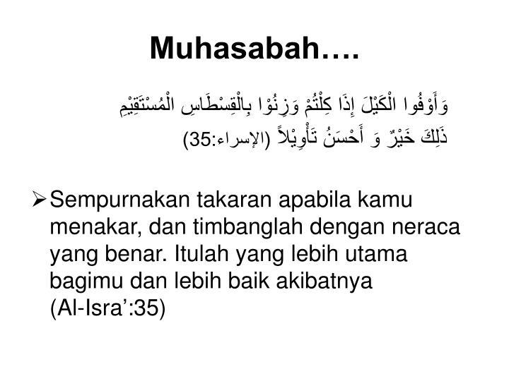 Muhasabah….
