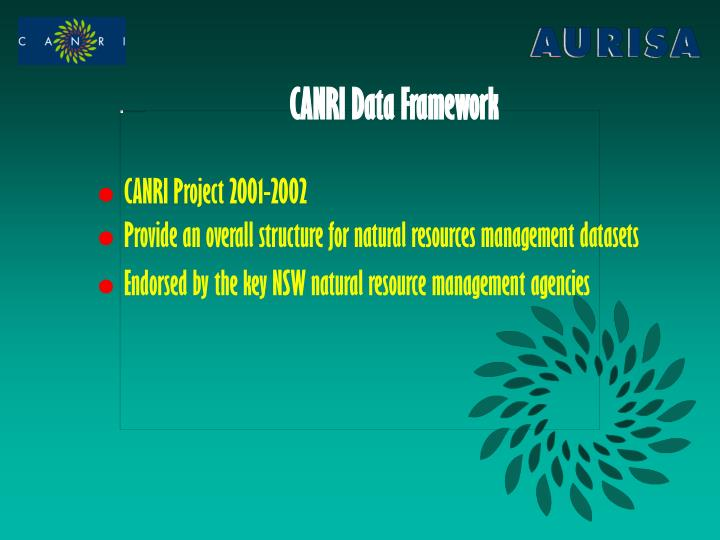 CANRI Data Framework