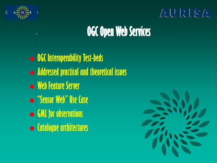 Ogc open web services