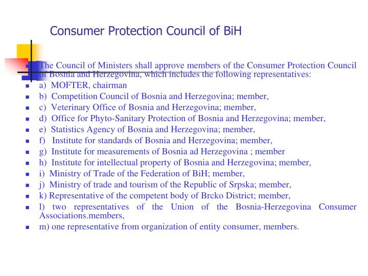 Consumer Protection Council of BiH