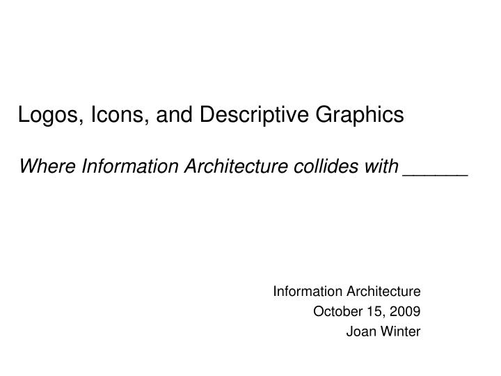 logos icons and descriptive graphics where information architecture collides with n.