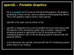 opengl portable graphics