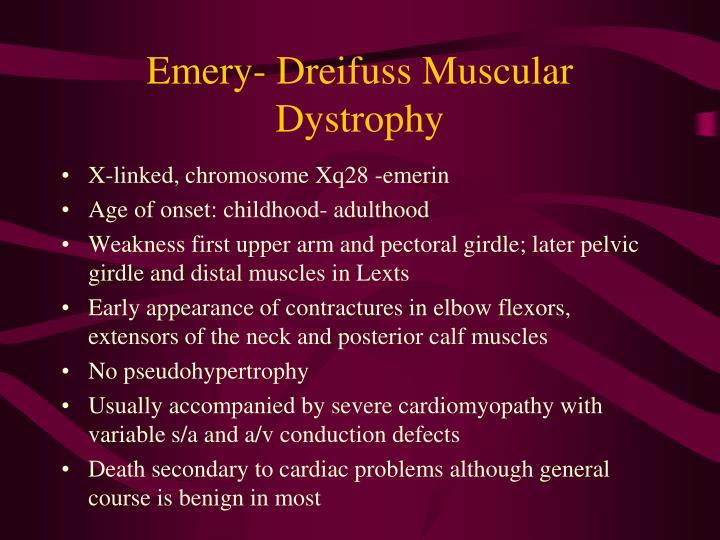 Emery- Dreifuss Muscular Dystrophy