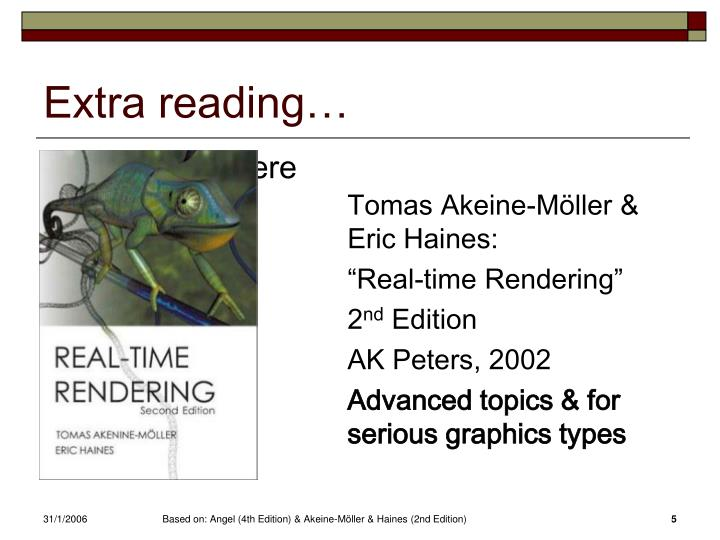 Extra reading…