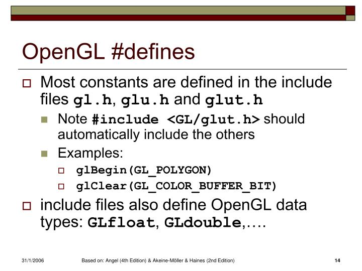 OpenGL #defines