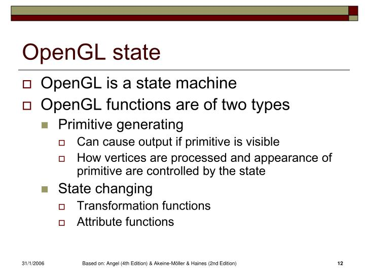 OpenGL state