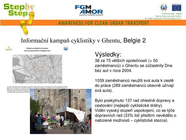Informační kampaň cyklistiky v Ghentu