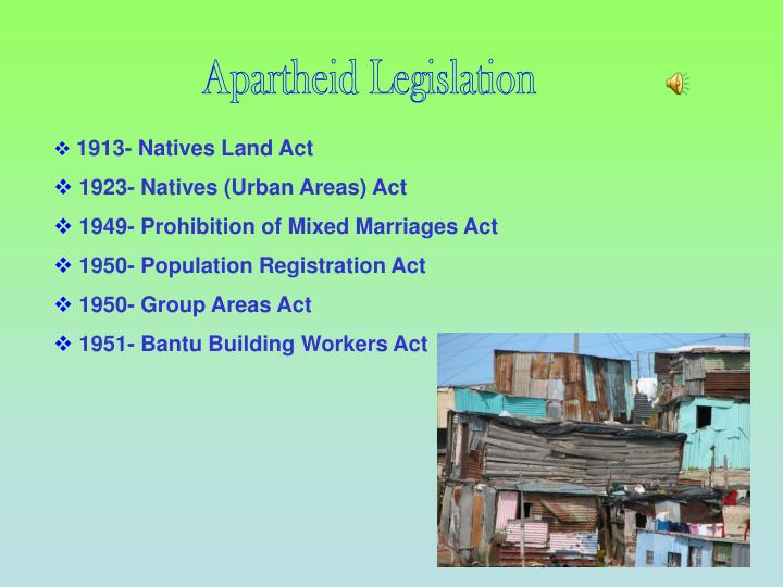 "1913 native land act The natives land act (no: 27 of 1913) one major step taken by the white minority government in addressing the issue of the ""native question"" was passing of the natives land act (no: 27) on 19 june 1913 this act had a profound effect on the african population across the country it also laid down the foundation for other legislation."