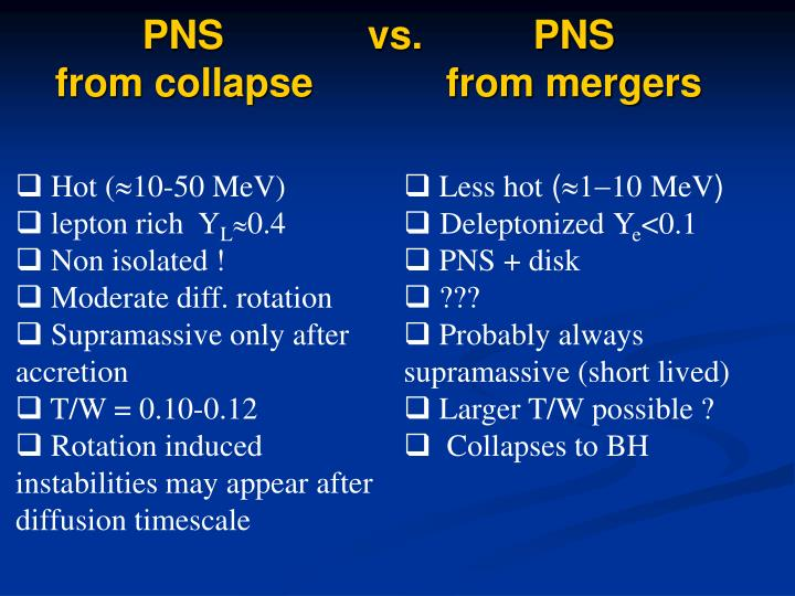 PNS             vs.          PNS