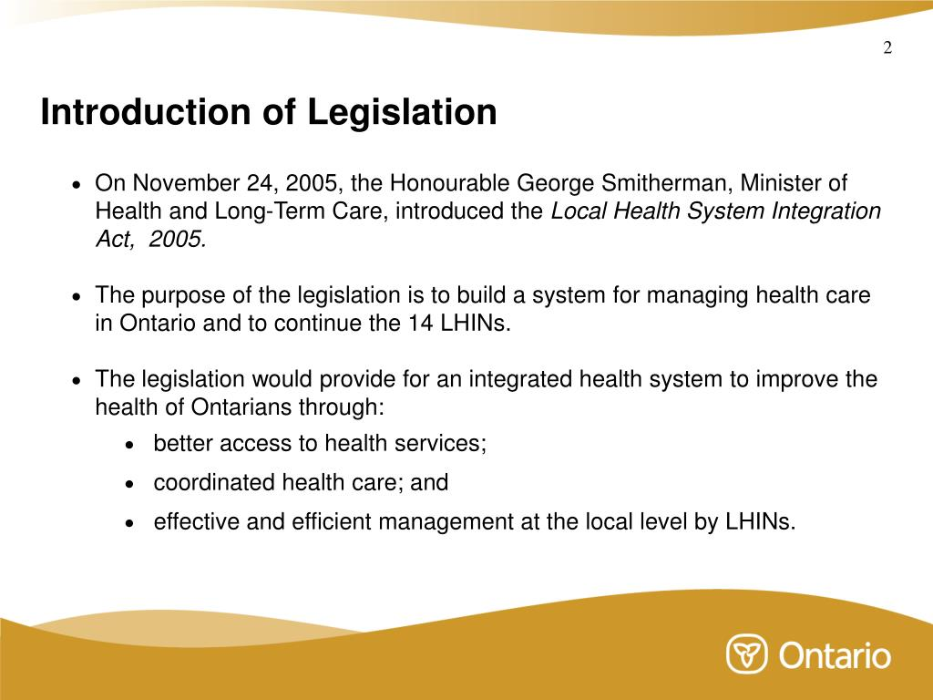 PPT - Ministry of Health and Long-Term Care Local Health System