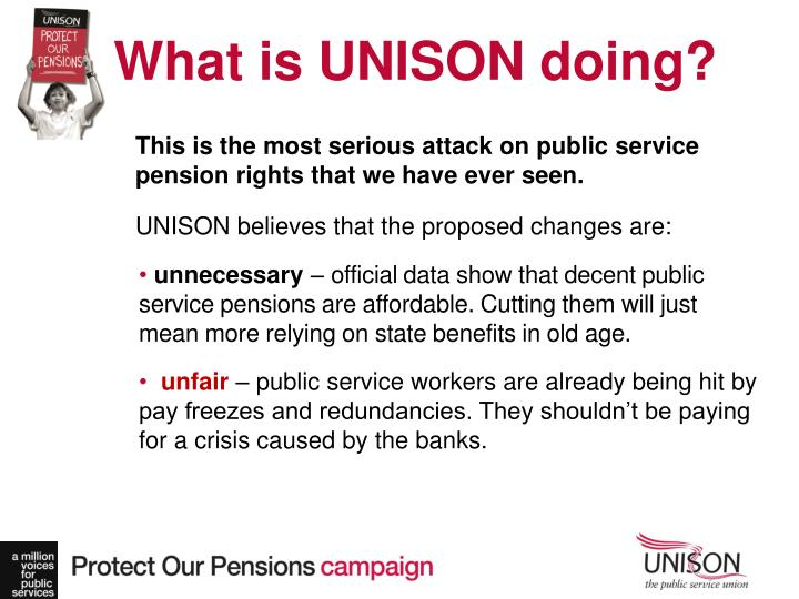 What is UNISON doing?