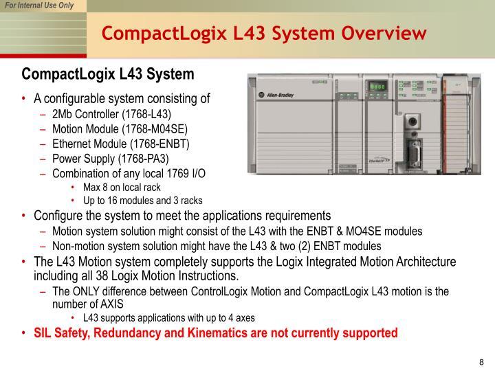 CompactLogix L43 System Overview