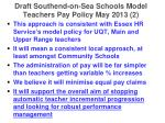 draft southend on sea schools model teachers pay policy may 2013 2
