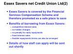 essex savers net credit union ltd 2