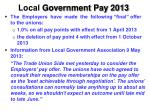 local government pay 2013