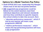 options for a model teachers pay policy