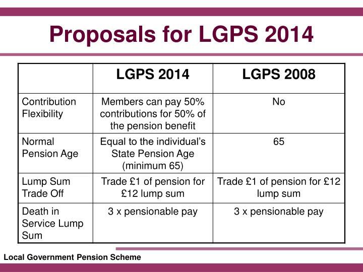 Proposals for LGPS 2014