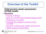 overview of the toolkit