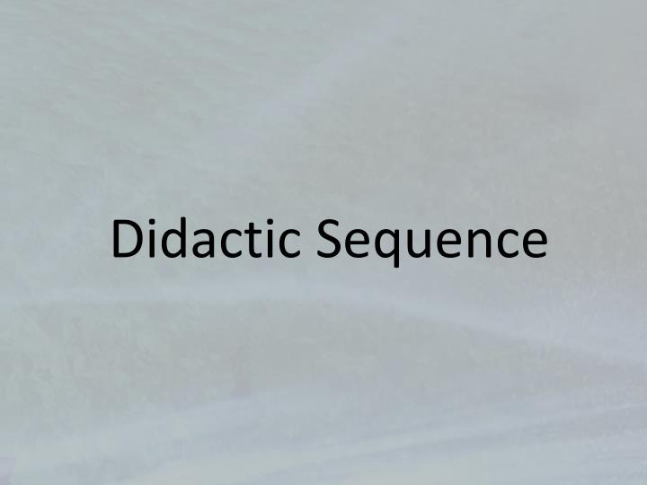 Didactic Sequence