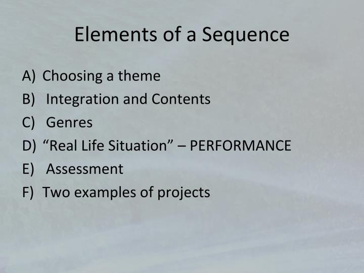 Elements of a Sequence