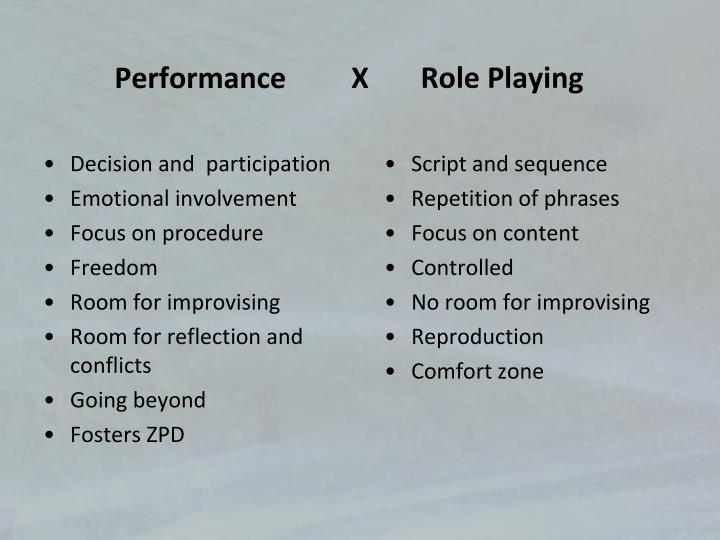 Performance         X