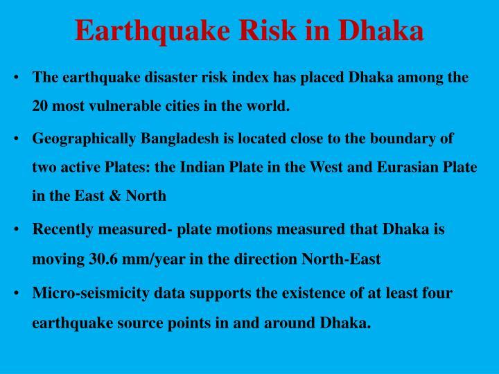 Earthquake Risk in Dhaka