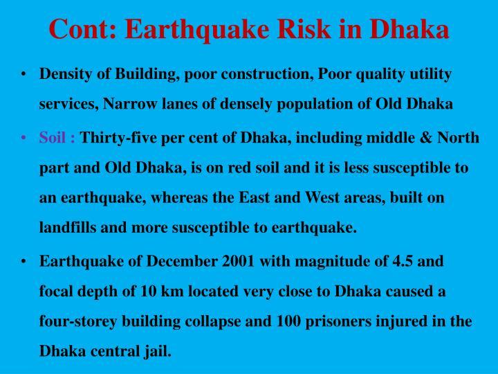 Cont: Earthquake Risk in Dhaka