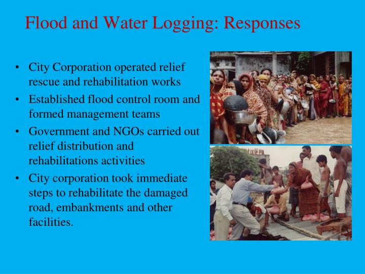 Flood and Water Logging: Responses