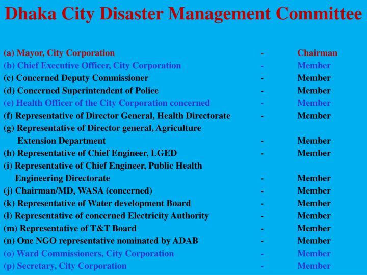 Dhaka City Disaster Management Committee