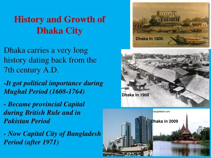 History and Growth of Dhaka City