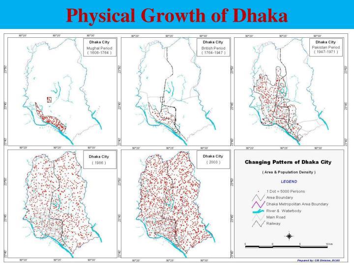 Physical Growth of Dhaka