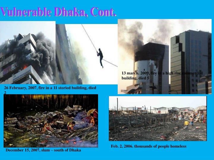 Vulnerable Dhaka, Cont.