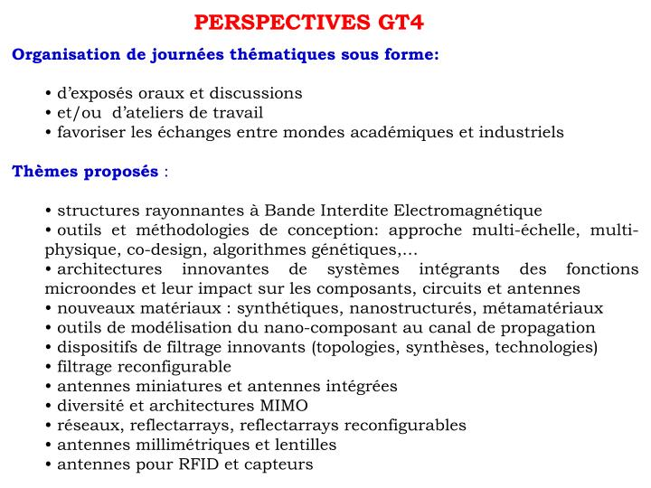 PERSPECTIVES GT4