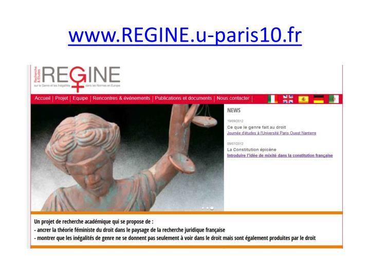 www.REGINE.u-paris10.fr