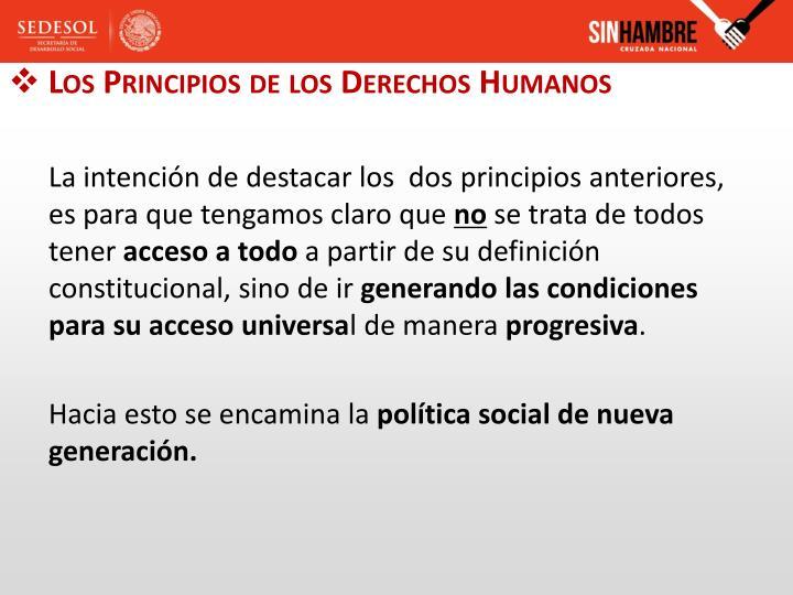Los Principios de los Derechos Humanos