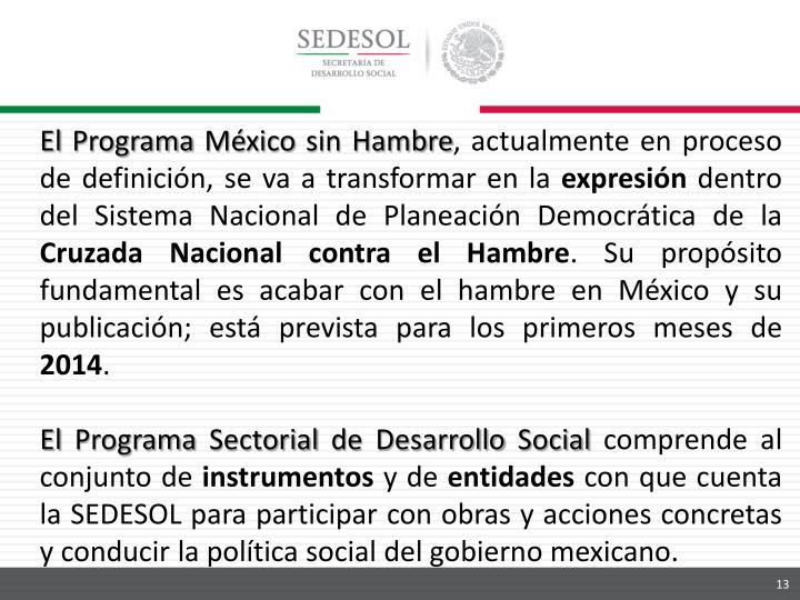 El Programa México sin Hambre