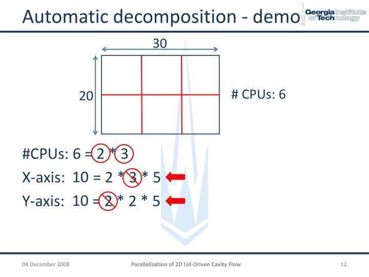 Automatic decomposition - demo