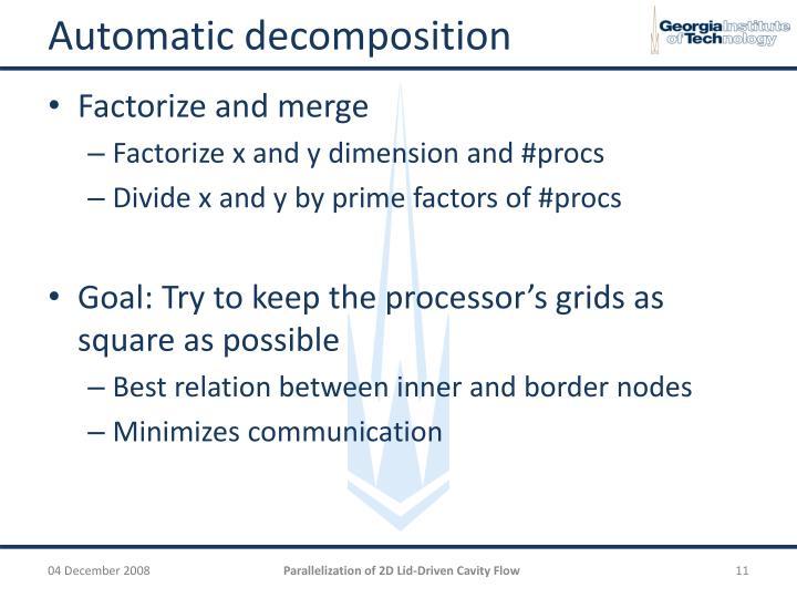 Automatic decomposition