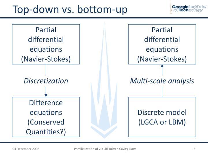 Top-down vs. bottom-up