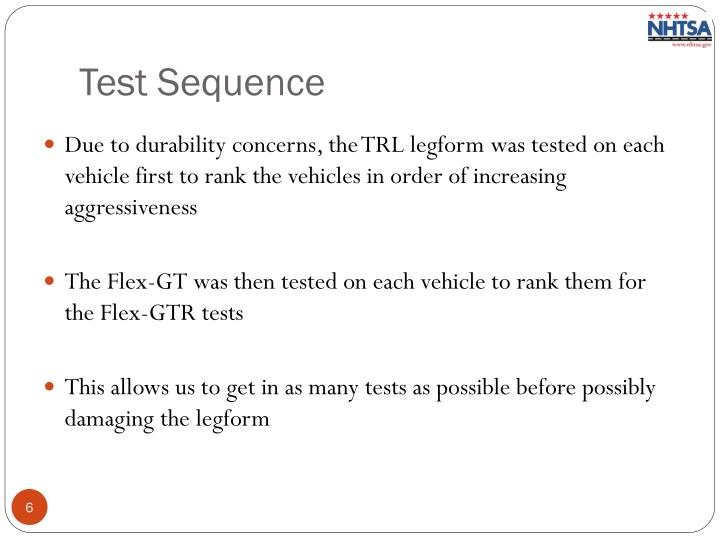 Test Sequence