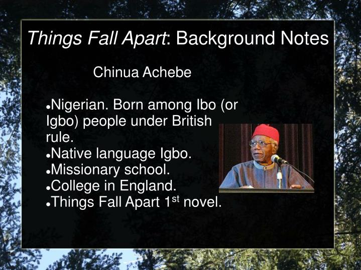 Things fall apart background notes