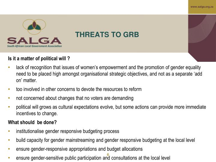 gender budget in tanzania Gender responsive budgeting (grb) is a means of integrating a gender perspective into all steps of the budget process—planning, drafting, implementing and evaluating—so as to ensure that budget policies take into consideration the gender issues in society and.