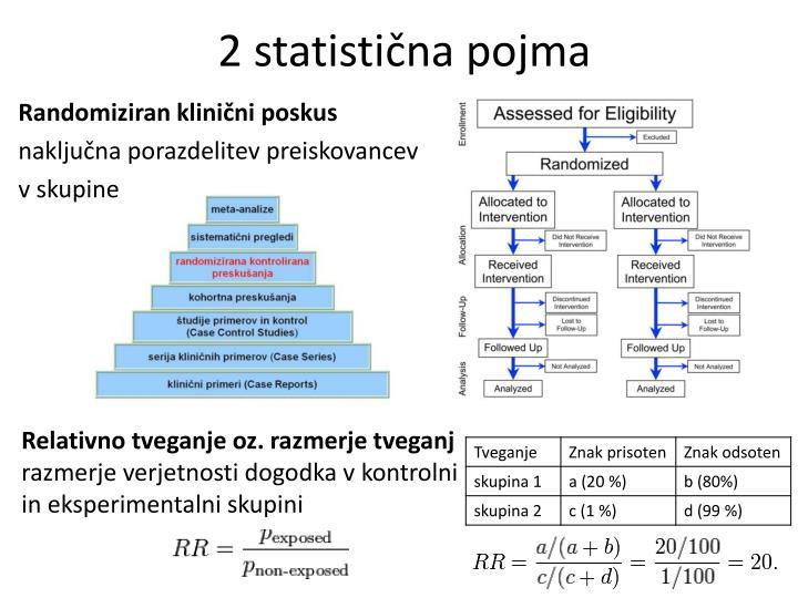 2 statistična pojma