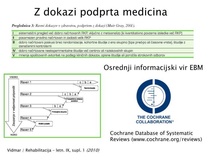 Z dokazi podprta medicina
